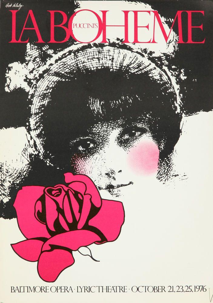 Original Vintage Poster Bob Helsley La Boheme Puccini Opera Italian 1976 Music  | Art, Art Posters | eBay!