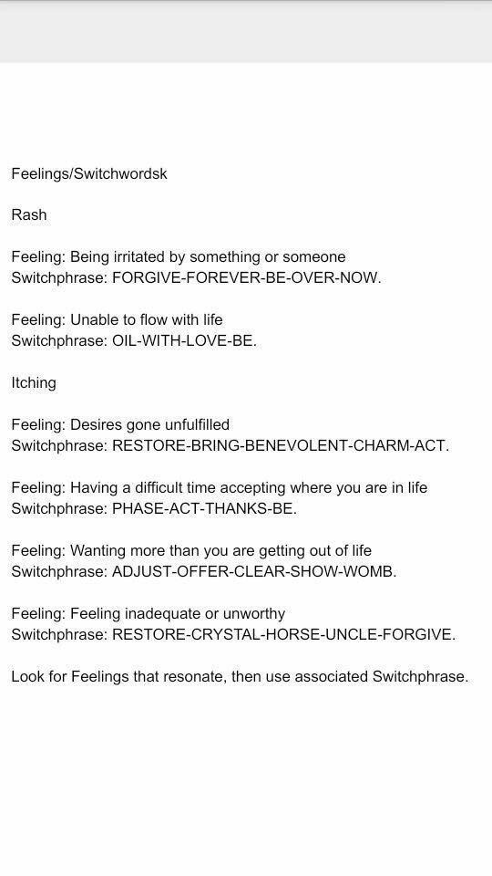 SWPs for feelings