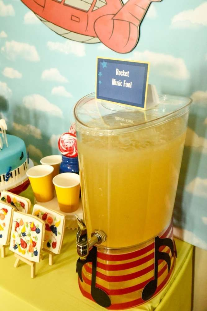 Drink station at a Little Einstein's birthday party! See more party planning ideas at CatchMyParty.com!
