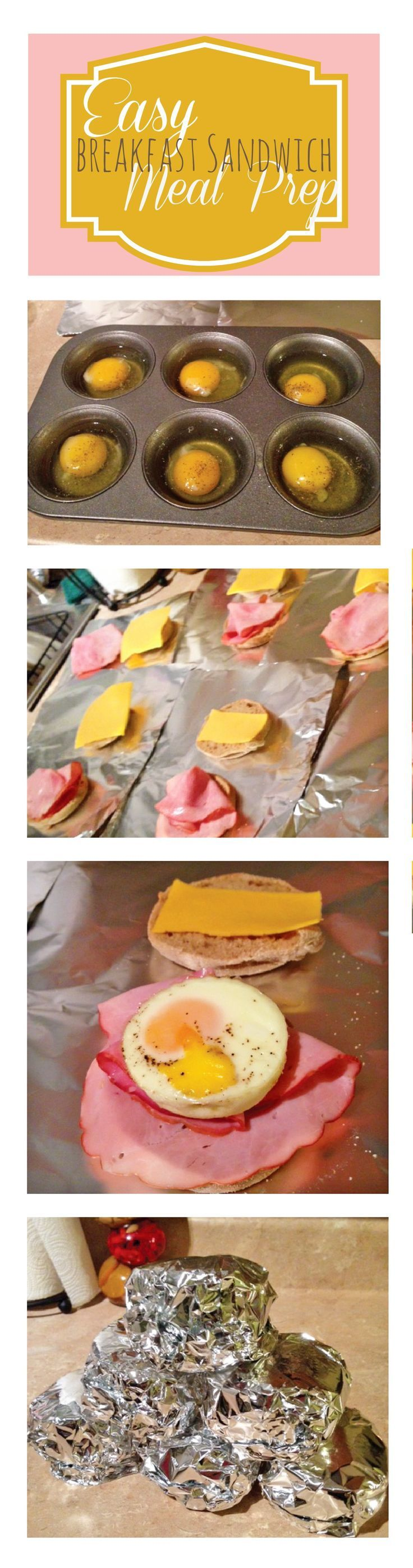 ::: visit TheWeighWeWere.com :::  Easy Breakfast Sandwich Meal Prep. Sandwiches for the week made in less than 1 hour!