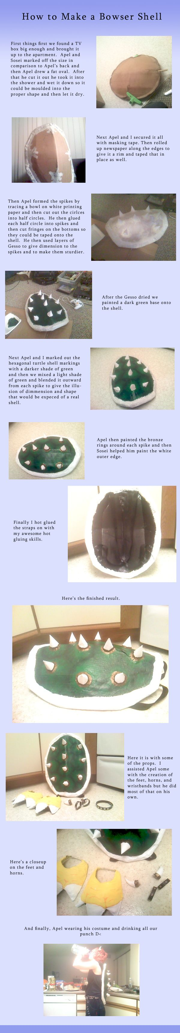 How to Make a Bowser Shell by *MythicPhoenix on deviantART