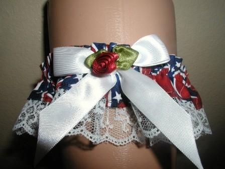 Confederate Flag Garter