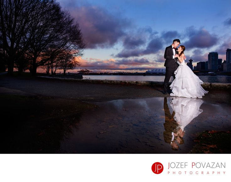 Best Award winning Vancouver wedding photographers Povazan Photography - Best Vancouver Wedding Photographers 2017 Awards: Best Vancouver Wedding Photographer in 2017 BC Awards finalist for best candid moment is Jozef Povazan from Povazan Photography studio. Modern and unique wedding pictures with amazing stories from it. Location: Sea Wall, Stanley Park, Vancouver, BC.