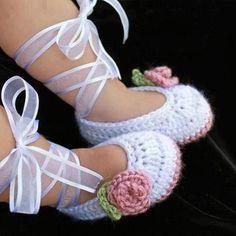 Zapatos tejidos a mano para bebes - bajo pedido - Caracas ...