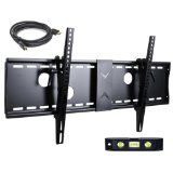 "VideoSecu Tilt TV Wall Mount for Most 37""- 70"" LCD LED Plasma TV Flat Screen with VESA 200x200 to 700x400mm, Sturdy Steel Wall Plate Free HDMI Cable and Bubble Level 3KR (Electronics)By VideoSecu"