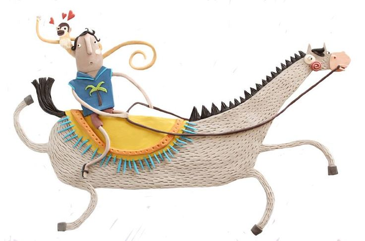 © Maru Ardanaz | Ilustradores Argentinos | Plastilina / Clay illustration http://www.ilustradoresargentinos.com/maru-ardanaz/