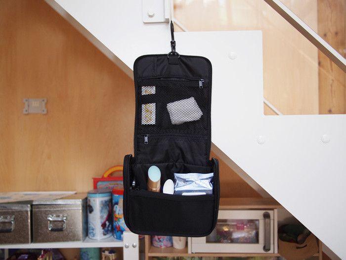 旅先のお供に 無印良品のポリエステル吊して使える洗面用具ケースが便利 サンキュ 便利 ポリエステル 洗面