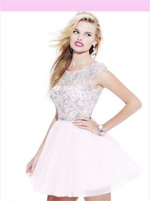 Red/Blue Beading Tulle 2013 Short Prom Dress APR230107
