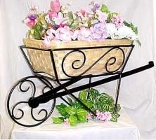 Large Wrought Iron Wheelbarrow