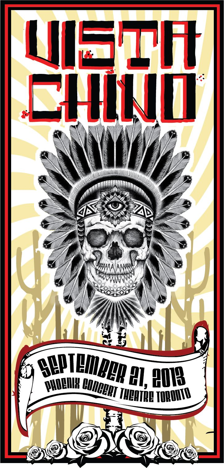 Vista Chino concert poster by Andre Skinner