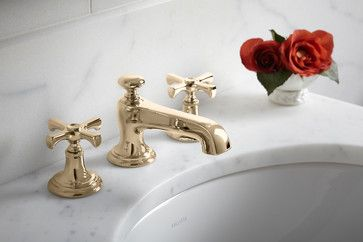 Unlacquered Brass Finish transitional-bath-products