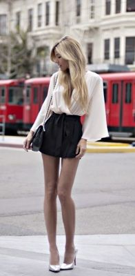 skirt. legs. purse. love this entire outfit