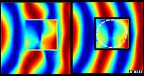 Il mantello italiano dell'invisibilità  Andrea Alù dell'Università del Texas, usando materiali plasmonici, ha realizzato una copertura in grado di rendere gli oggetti invisibili nello spettro delle microonde  Leggi l'articolo su Galileo (http://www.galileonet.it/blog_posts/4fa3a02e72b7ab6a2700001b)  Credit immagine Andrea Alù/Department of Electrical and Computer Engineering,Università del Texas