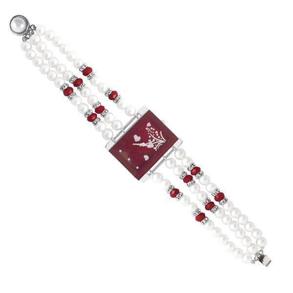 Jpearls Rashmi Button Pearl Watch