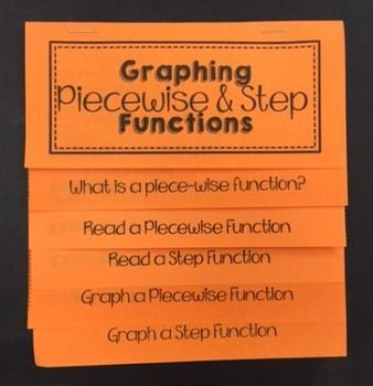 Piecewise and Step Functions (Foldable for Algebra 1)
