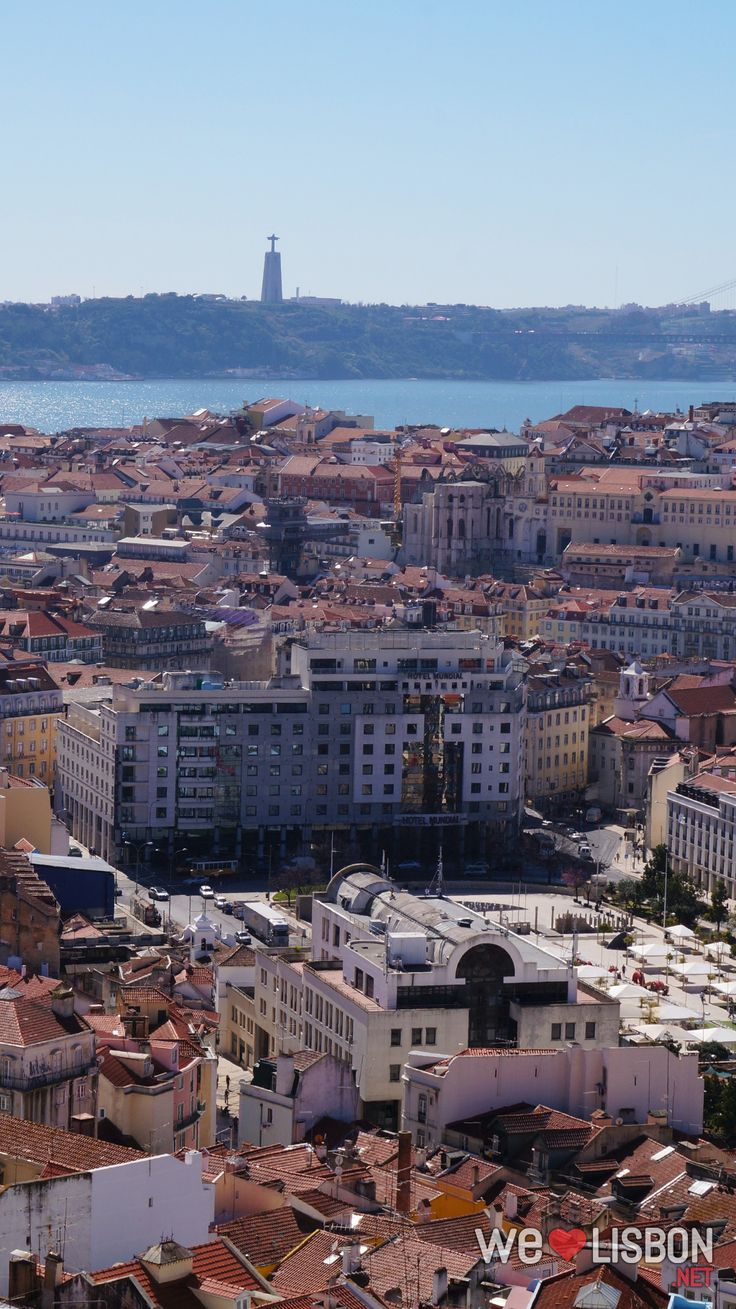 Lisbon and the Tagus river view from Nossa Senhora do Monte viewpoint