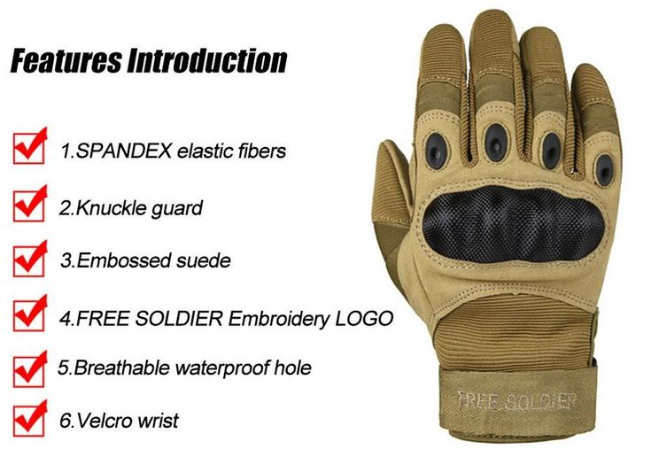 Outdoor Sports Tactical Gloves, Climbing Gloves Men's Full Gloves For Hiking Cycling Training