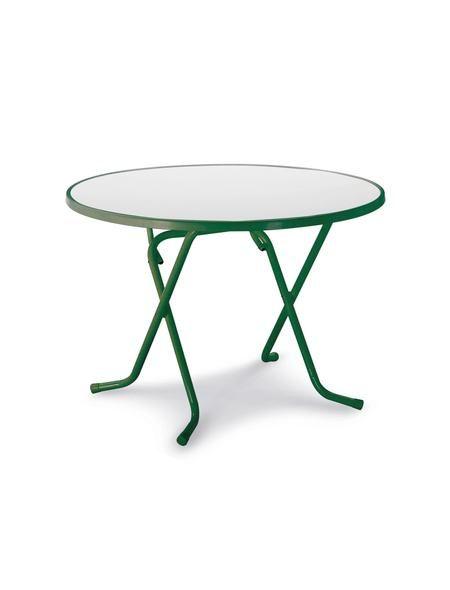 Gartentisch »Primo«, Stahl/Kunststoff, klappbar, Ø 100 cm, grün