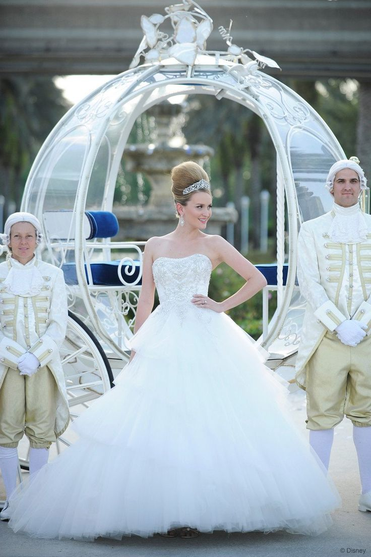 The Cinderella Platinum Wedding Gown Unveiling At Disney S Fairy Tale Weddings Honeymoons 20th Anniversary Event