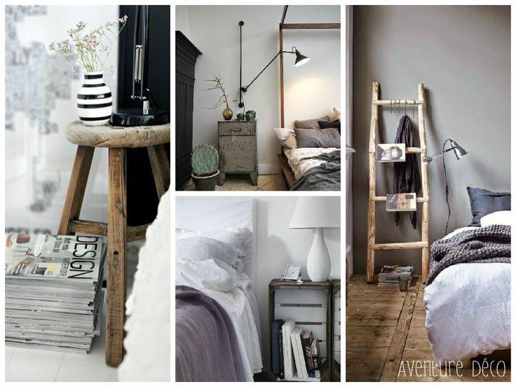 1000 id es sur le th me table de nuit sur pinterest chambre avec tables de chevet lampe de. Black Bedroom Furniture Sets. Home Design Ideas