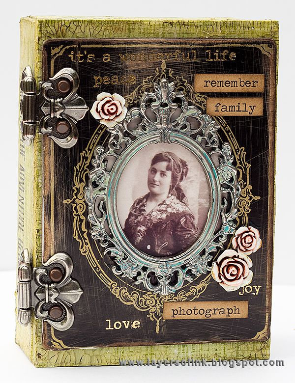 Layers of ink - Hidden Book Box Tutorial by Anna-Karin with Tim Holtz idea-ology…