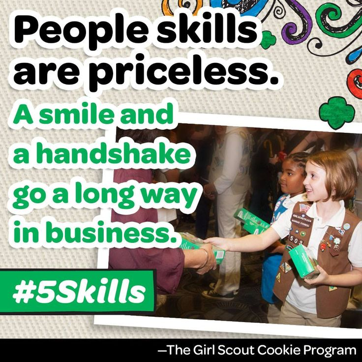 Our cookie program provides girls with the skills and confidence needed to succeed during cookie season and beyond!