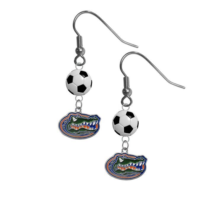 Florida Gators NCAA Soccer Dangle Earrings