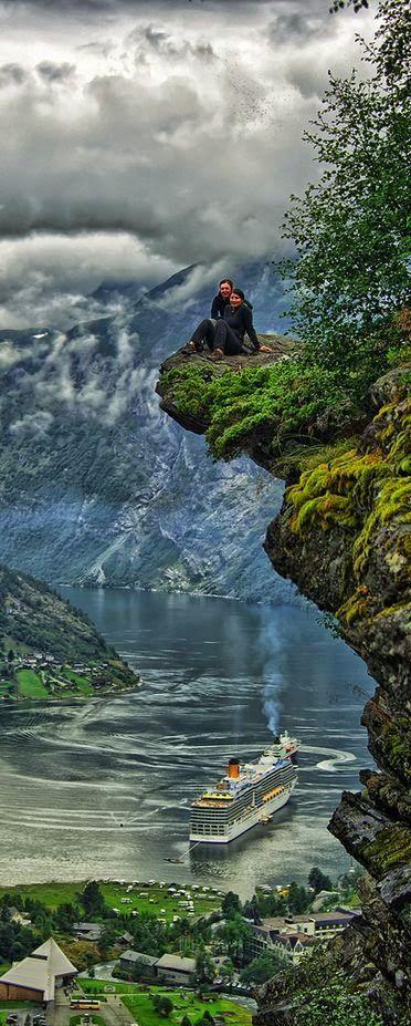 Geiranger, Norway - Holiday$pots4u ... #Photo #Photography #Nature #NaturePhotography #Landscapes #Sunsets