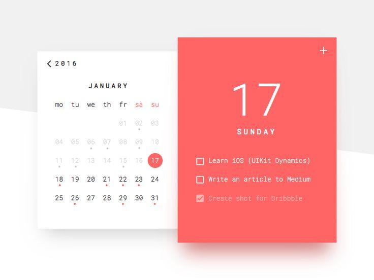 Calendar web daily ui
