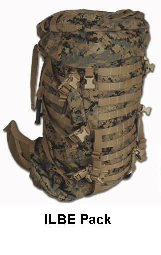 ILBE Pack in Marine Pattern (MARPAT) camo.  ILBE stands for Improved Load Bearing Equipment and is made specifically for the US Marines.