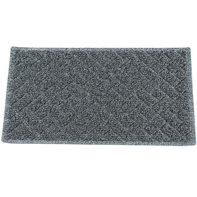 Eco Matrix Large Doormats Entrance Floor Mats Non Slip Dirt Trapper Rubber Door Mat Washable Carpet Rug Durable Patio Turf For Indoor Outdoor 75x43cm Black Gr Rugs On Carpet Rubber Door Mat Front