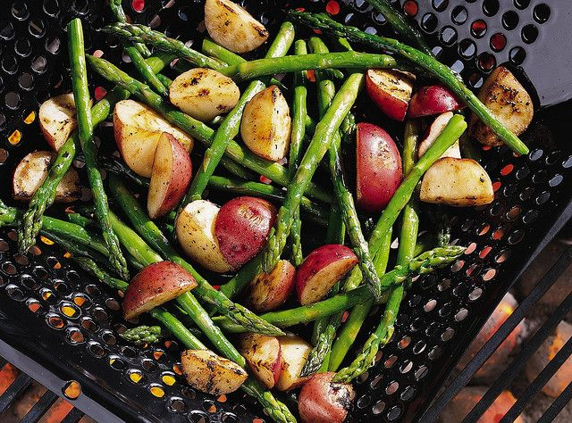 grilled asparagus & new potatoes