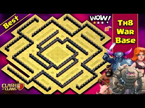 TH8 Anti 3 Star War Base 2017 | BEST | Town Hall 8 | AnTi Gowipe/Dargon/Goho | Clash Of Clans - YouTube