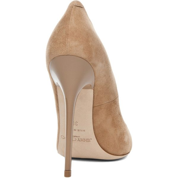 Jimmy Choo Anouk Pump in Nude ($575) ❤ liked on Polyvore