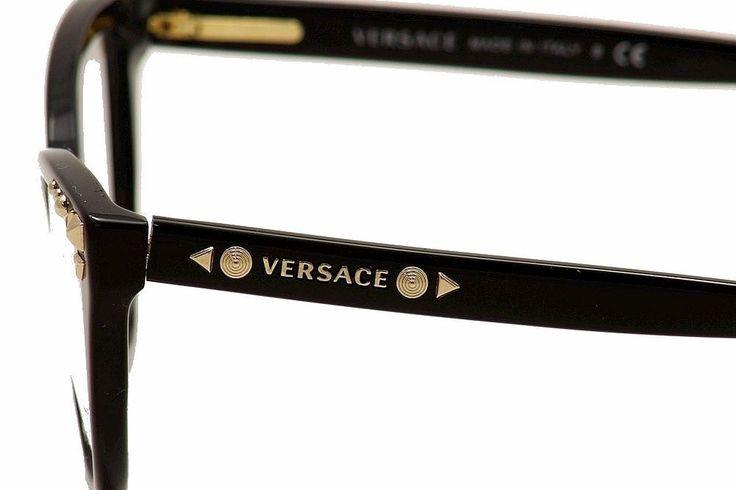 Amazon.com: Versace VE3191 Eyeglasses-GB1 Black-54mm: Clothing