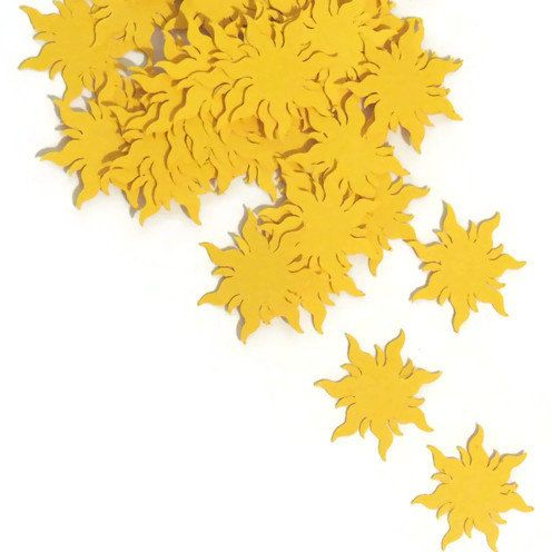 1 1/4in. (3cm) Qty 100pc $5.35 Tangled sun confetti. summer wedding Ships in 3-5 by PartyParts