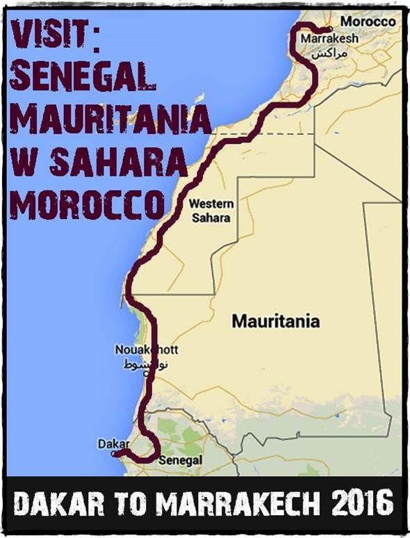 Our overland adventure trip between Dakar, Senegal and Marrakech, Morocco www.overlandingwestafrica.com/dakartomarrakech
