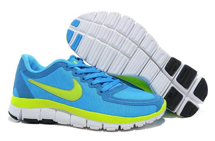 Nike Free 5.0 V4 Dame Bla Gron 386.41DKK