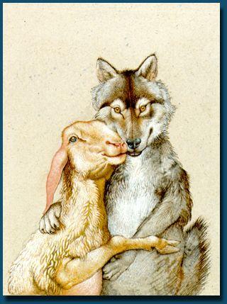Michael Mathias Prechtl - Wolf & Sheep Cover illustration for Utopia by Thomas More (Morus)