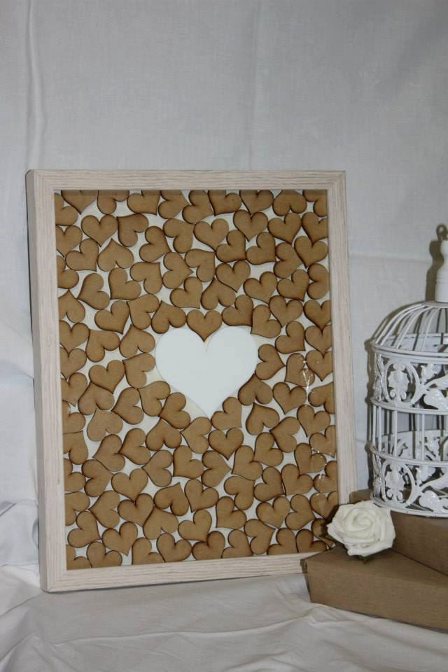 Framed Hearts Wedding Guest Book by PerfectlyPersonalise on Etsy
