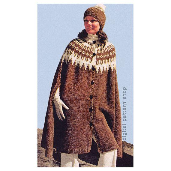 Knitting Pattern Cape Arm Slits : 174 melhores imagens sobre PONCHO no Pinterest