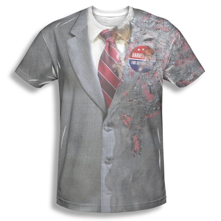 The Dark Knight Two Face Costume Harvey Dent Sublimation Front Only T-shirt Top #Trevco #GraphicTee