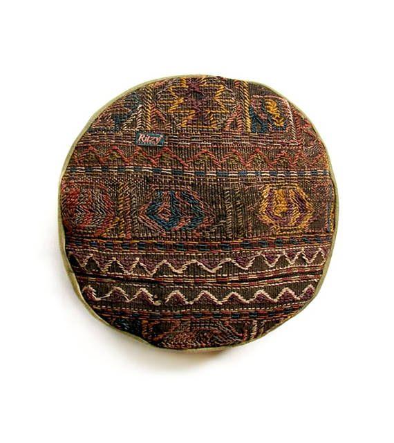 Kilim Pouf Round Turkish Seat Cushion Round Cushion Iranian