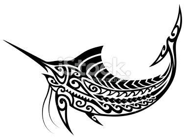 tribal marlin tattoo tatouage poisson maori marlin culture indig ne stock illustration. Black Bedroom Furniture Sets. Home Design Ideas
