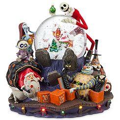 Deluxe Tim Burton's The Nightmare Before Christmas Snowglobe