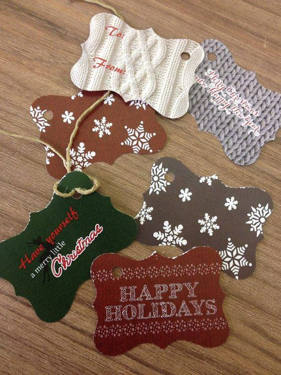 Handmade Christmas tags gift labels holiday labels by Armenos