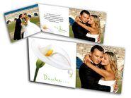 Dankeskarten Hochzeit - Herzlich. Dankasgunskarten mit Blumen-Motiv