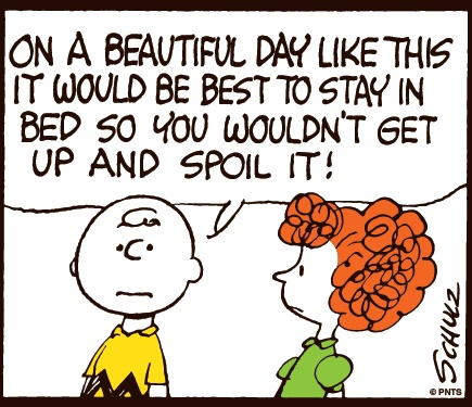 Monday morning with Charlie Brown.