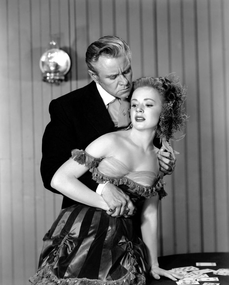 Piper Laurie and David Brian in Dawn at Socorro (1954)