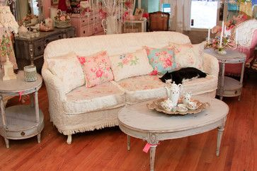 Shabby Chic Slipcovers For Loveseats Shabby Chic Sofa Slipcovered With Vintage Chenille